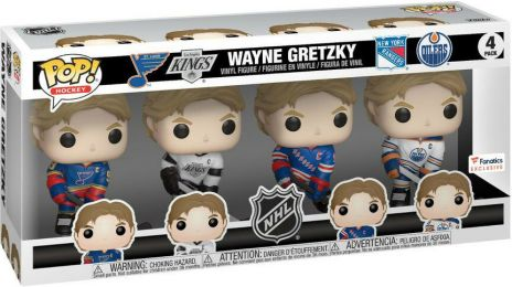 Figurine Funko Pop LNH: Ligue Nationale de Hockey #0 Wayne Gretzky - 4-Pack