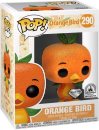 Figurine Funko Pop Parcs Disney  #290 Oiseau Orange - Pailleté