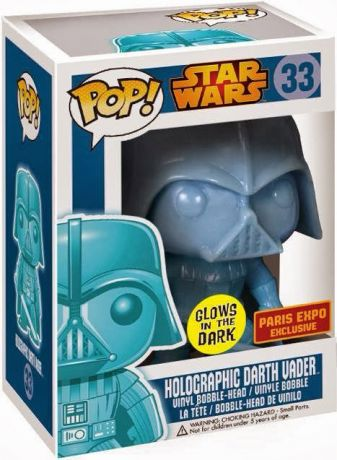 Figurine Funko Pop Star Wars 1 : La Menace fantôme #33 Dark Vador - Brillant dans le noir