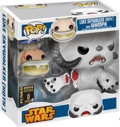 Figurine Funko Pop Star Wars 1 : La Menace fantôme #0 Luke Skywalker (Hoth) & Wampa - 2 pack