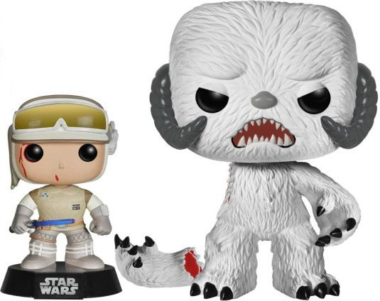 Figurine Funko Pop Star Wars 1 : La Menace fantôme #00 Luke Skywalker (Hoth) & Wampa - 2 pack