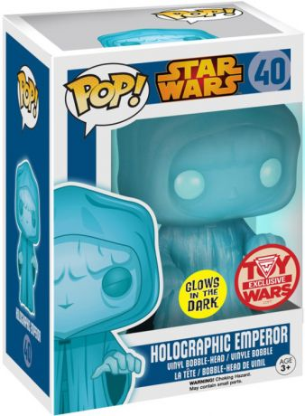 Figurine Funko Pop Star Wars 1 : La Menace fantôme #40 Emperor Palpatine - Brillant dans le noir