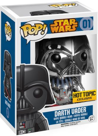 Figurine Funko Pop Star Wars 1 : La Menace fantôme #01 Dark Vador - Chrome