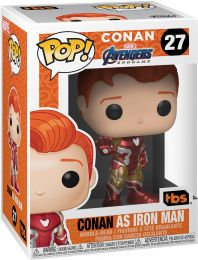 Figurine Funko Pop Conan O'Brien #27 Conan en Iron Man