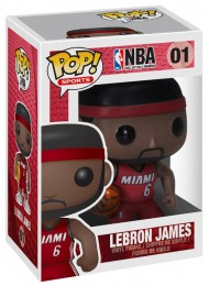 Figurine Funko Pop NBA #1 Lebron James - Miami Heat