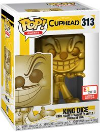 Figurine Funko Pop Cuphead #313 King Dice - Or