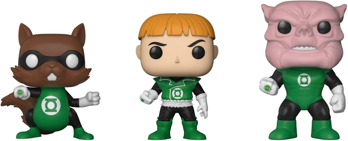 Figurine Funko Pop DC Super-Héros #00 Ch'p, Guy Gardner & Kilowog - 3 pack
