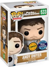 Figurine Funko Pop Parcs et Loisirs #533 Andy Dwyer [Chase]
