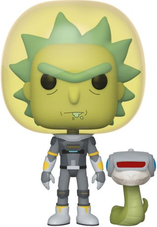 Figurine Funko Pop Rick et Morty #689 Rick le Cosmonaute avec Serpent - 2 pack