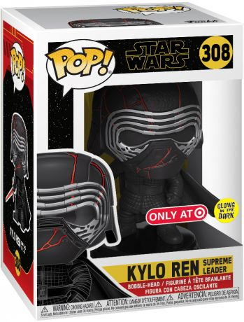 Figurine Funko Pop Star Wars 9 : L'Ascension de Skywalker #308 Kylo Ren Supreme Leader - Brillant dans le noir
