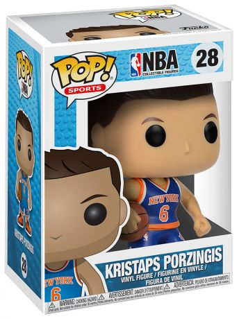 Figurine Funko Pop NBA #28 Kristaps Porzingis - New York Knicks