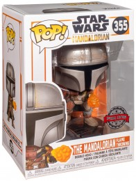 Figurine Funko Pop Star Wars : Le Mandalorien #355 The Mandalorian Gauntlet - Metallique