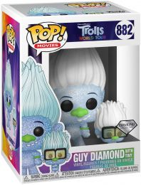 Figurine Funko Pop Les Trolls #882 Guy Diamond & Tiny Diamond - Pailleté