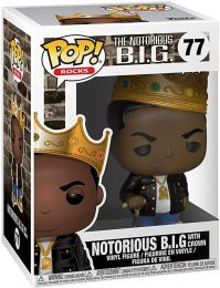 Figurine Funko Pop Notorious B.I.G #77 Notorious BIG avec Couronne