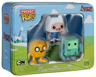 Figurine Funko Pop Adventure Time #9 Jake, Finn & BMO - 3 Pack