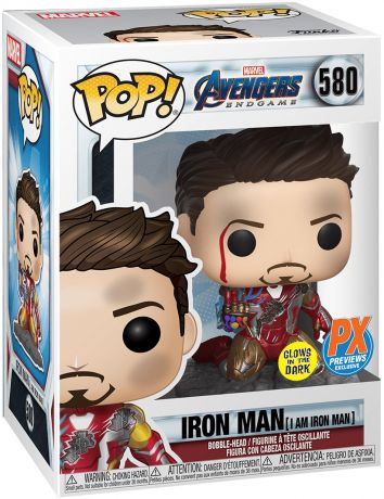 Figurine Funko Pop Avengers : Endgame [Marvel] #580 Iron Man (Je suis Iron Man) - Métallique & Brillant dans le noir