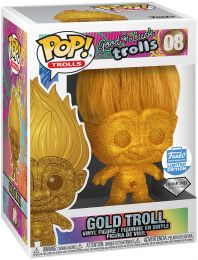Figurine Funko Pop Les Trolls #8 Troll Or - Or & Pailleté