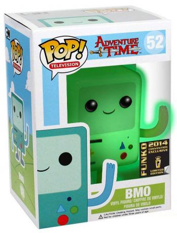 Figurine Funko Pop Adventure Time #52 BMO Blanc - Brille dans le noir