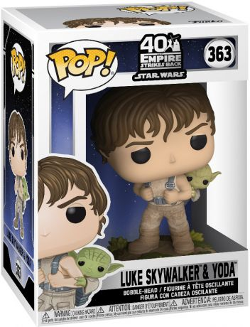 Figurine Funko Pop Star Wars 5 : L'Empire Contre-Attaque #363 Luke Skywalker & Yoda