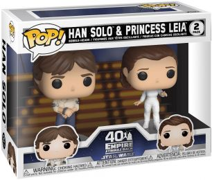 Figurine Funko Pop Star Wars 5 : l'Empire Contre-Attaque #0 Han Solo & Princesse Leia - 2 pack