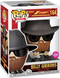 Figurine Funko Pop ZZ Top #164 Billy Gibbons - Floqué