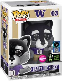 Figurine Funko Pop Mascottes Universitaires #3 Harry le Husky - Floqué