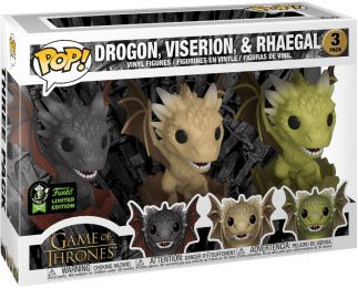 Figurine Funko Pop Game of Thrones #0 Drogon, Viserion, & Rhaegal - 3 Pack