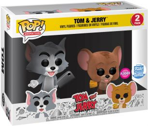 Figurine Funko Pop Tom et Jerry #0 Tom&Jerry - Floqué - 2 Pack