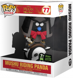 Figurine Funko Pop Mulan [Disney] #77 Mushu Chevauchant un Panda - 15 cm