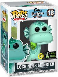 Figurine Funko Pop Mythes et Légendes #18 Monstre du Loch Ness - Brillant dans le noir