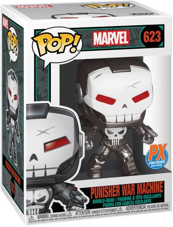 Figurine Funko Pop Marvel Comics #623 Punisher War Machine - Métallique