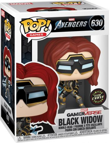 Figurine Funko Pop Avengers Gamerverse [Marvel] #630 Black Widow - Brillant dans le noir [Chase]