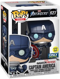 Figurine Funko Pop Avengers Gamerverse [Marvel] #627 Captain America - Brillant dans le noir