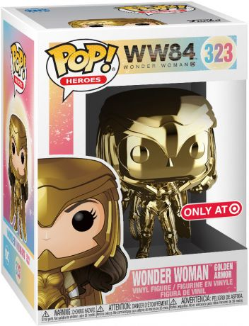 Figurine Funko Pop Wonder Woman 1984 - WW84 #323 Wonder Woman Armure en Or - Chromé Or