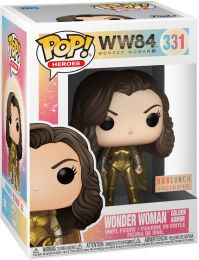 Figurine Funko Pop Wonder Woman 1984 - WW84 #331 Wonder Woman Amure en Or - Métallique