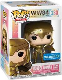 Figurine Funko Pop Wonder Woman 1984 - WW84 #330 Wonder Woman Armure en Or - Métallique