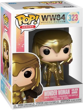 Figurine Funko Pop Wonder Woman 1984 - WW84 #323 Wonder Woman Armure en Or - Métallique