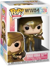 Figurine Funko Pop Wonder Woman 1984 - WW84 #324 Wonder Woman en Armure en Or en Vol - Métallique