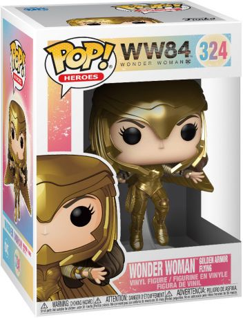 Figurine Funko Pop Wonder Woman [DC] #324 Wonder Woman en Armure en Or en Vol - Métallique