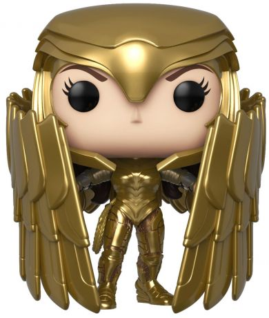 Figurine Funko Pop Wonder Woman [DC] #329 Wonder Woman avec Bouclier et Armure en Or - Metallic