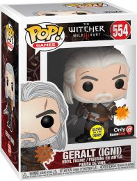 Figurine Funko Pop The Witcher 3: Wild Hunt #554 Geralt (IGNI) - Brillant dans le noir