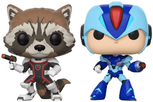 Figurine Funko Pop Marvel Gamerverse #00 Rocket vs Mega Man X - 2 pack