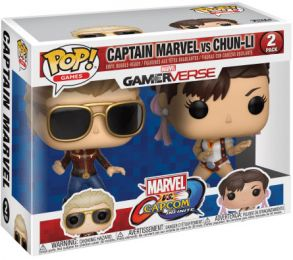 Figurine Funko Pop Marvel Gamerverse #0 Captain Marvel vs Chun-Li - 2 pack