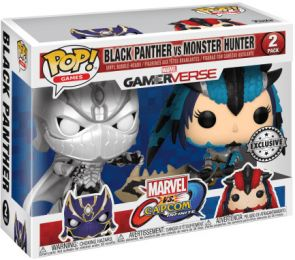 Figurine Funko Pop Marvel Gamerverse #0 BlackPanther vs MonsterHunter - 2 pack