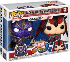 Figurine Funko Pop Marvel Gamerverse #0 Black Panther vs Monster Hunter - 2 pack