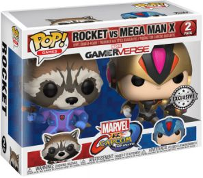 Figurine Funko Pop Marvel Gamerverse #0 Rocket vs Megaman - 2 pack
