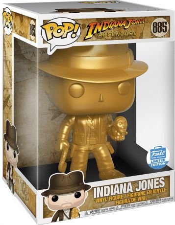 Figurine Funko Pop Indiana Jones #885 Indiana Jones - Metallique Or & 25 cm