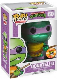 Figurine Funko Pop Tortues Ninja #60 Donatello - Métallique