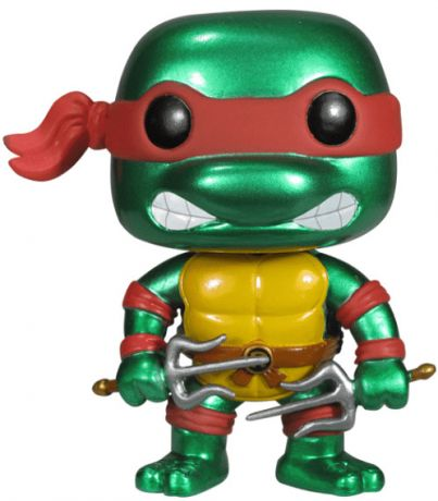 Figurine Funko Pop Tortues Ninja #61 Raphael - Métallique