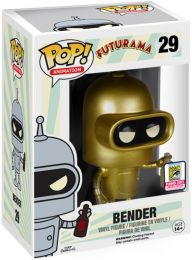 Figurine Funko Pop Futurama #29 Bender - Or
